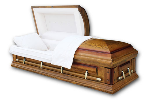 Oak Hardwood Rental Casket