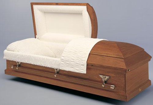 Oak Veneer Rental Casket